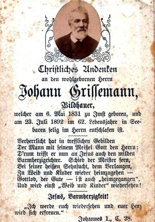 Grissemann Sterbebild a