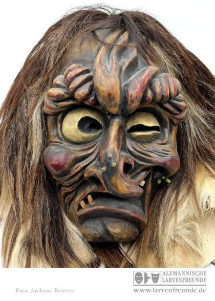 Holzmaske Tschägättä