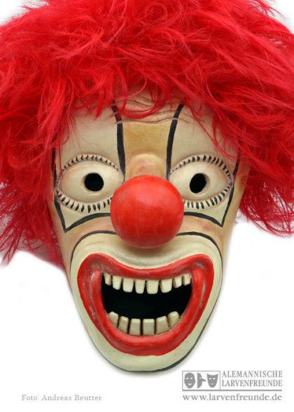 Holzmaske Clown Strassmann