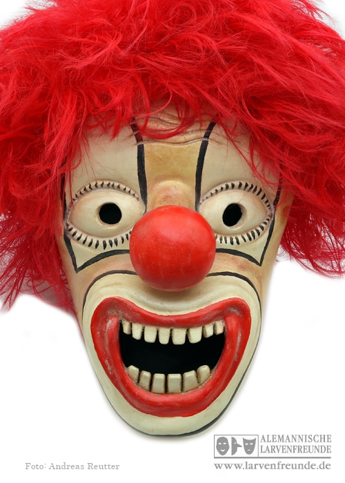Zürich Bündner Larve Clown Strassmann (1f)