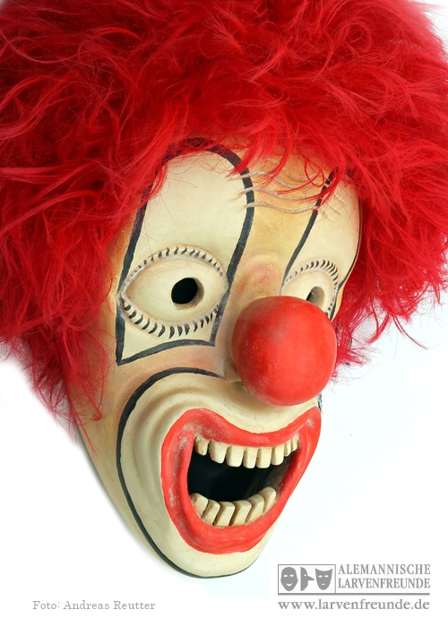 Zürich Bündner Larve Clown Strassmann (2f)