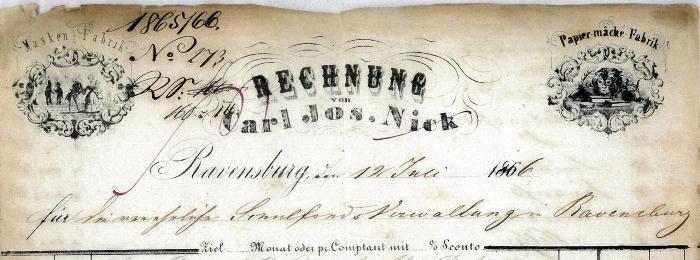 1866 Rechnung Nick SAR 700