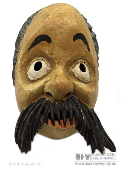 Maschkerer Holzmaske Malching