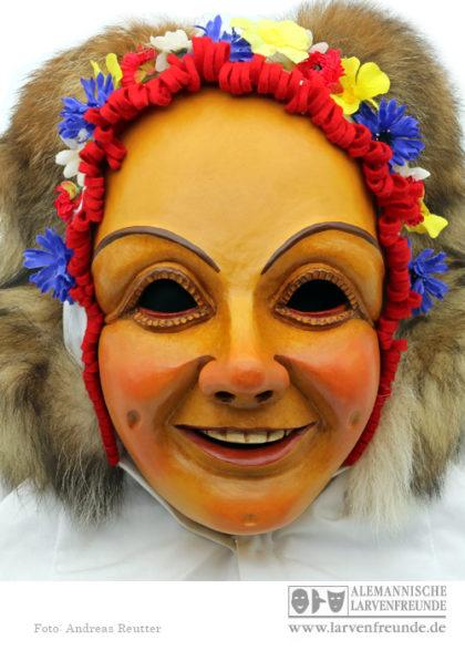 Holzmaske Blumennärrle