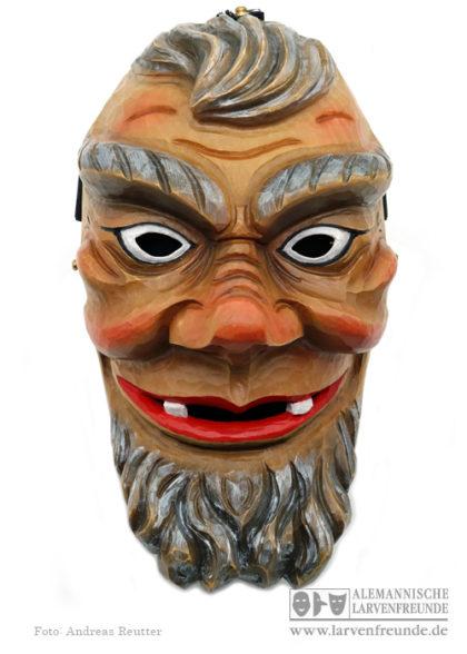 Silberklopfer Holzmaske