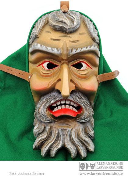 Holzmaske Bartlarve Schuttig
