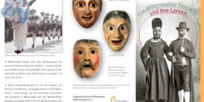 Ausstellung im Geigenbaumuseum: Die Mittenwalder Fasnacht und ihre Larven