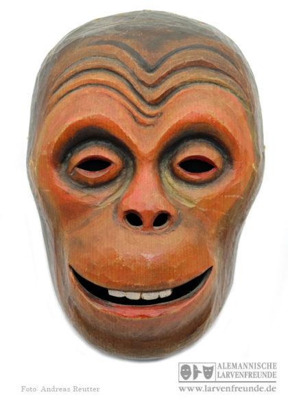 Affenmaske Holzmaske
