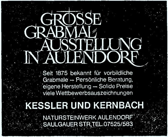 Anzeige Kessler Kernbach 700
