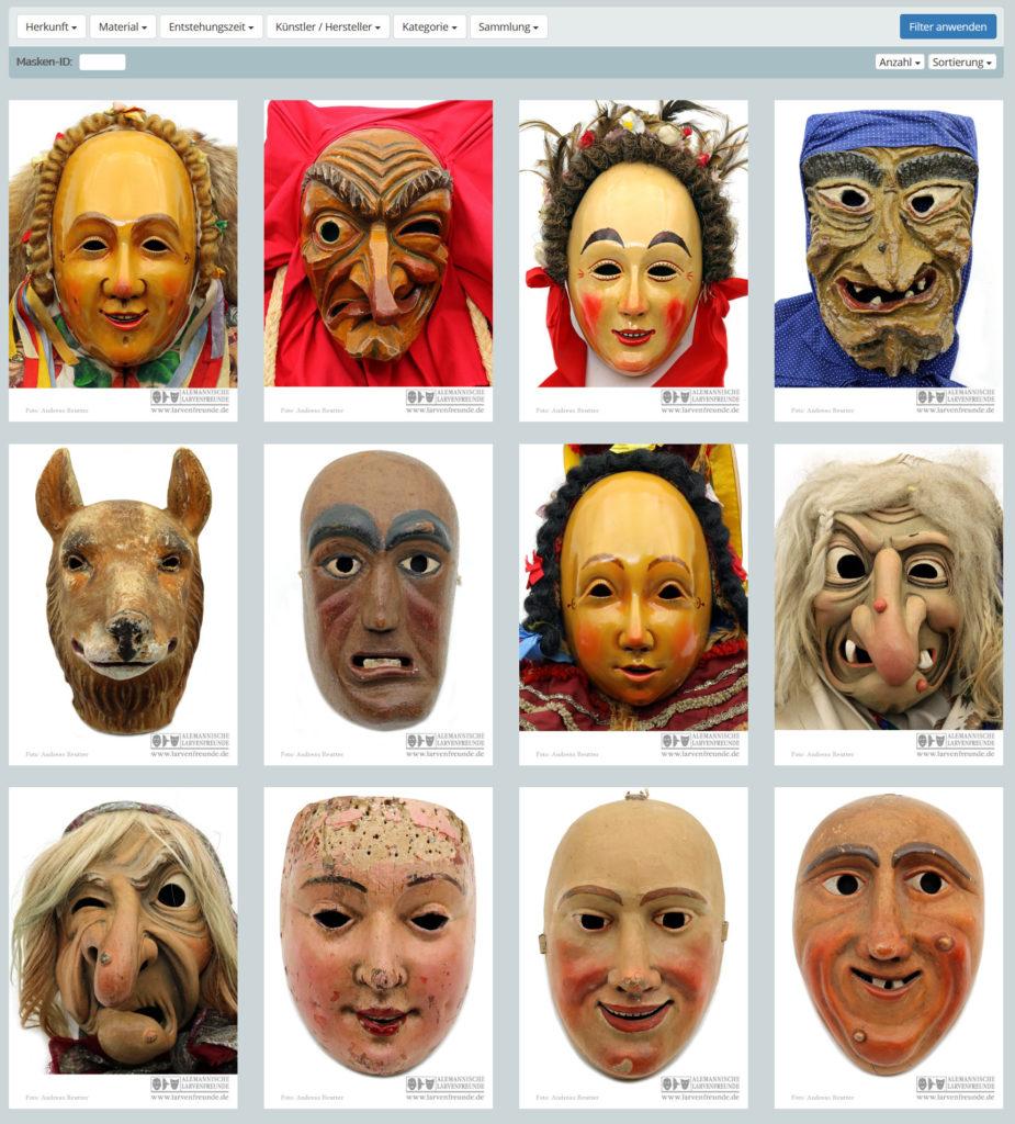 Virtuelles Maskenmuseum Fastnachtsmuseum Larvenmuseum