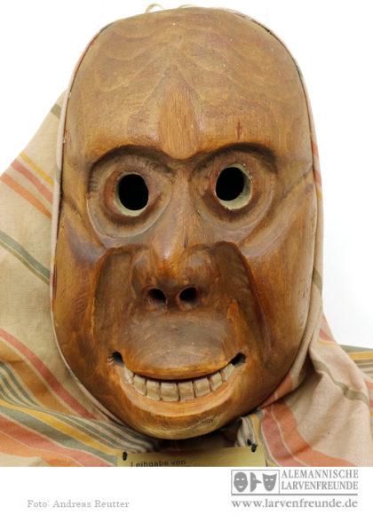 Flums Affe Holzmaske Fasnacht
