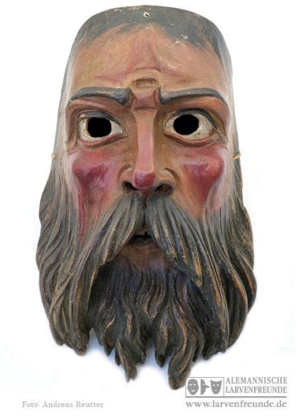 Holzlarve Grainau Fasnacht Holzmaske