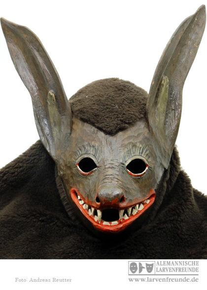 Fledermaus Holzmaske Sigmaringen