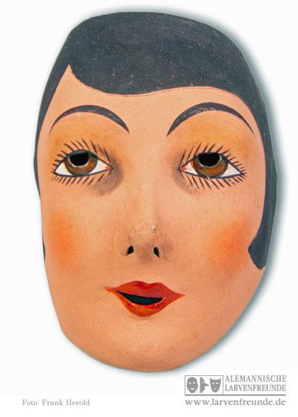 Pappmaske Junge Dame Maskenmuseum