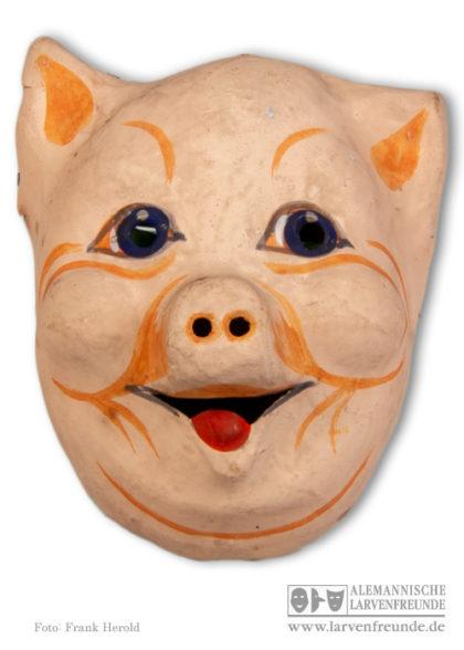 Pappmaske Schwein Maskenmuseum