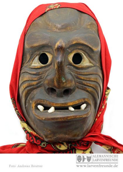 Maskenmuseum Stoop Holzlarve Flums