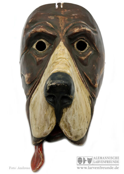 Grainau Hund Holzlarve Maskenmuseum