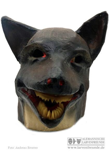 Mollikopf Pappmaske Wolf Tiermaske
