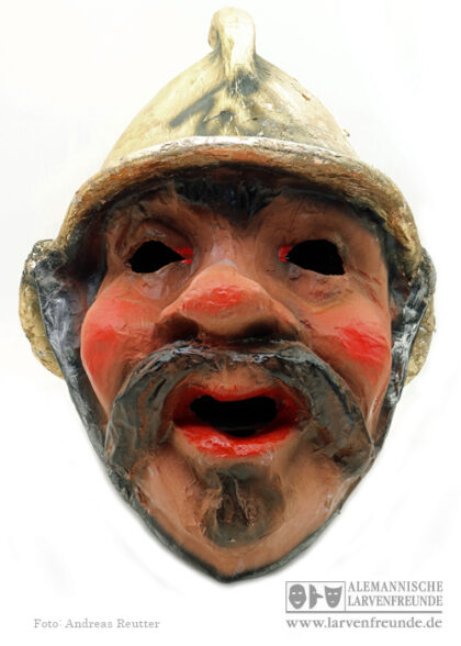 Mollikopf Schwellkopf Pappmaske