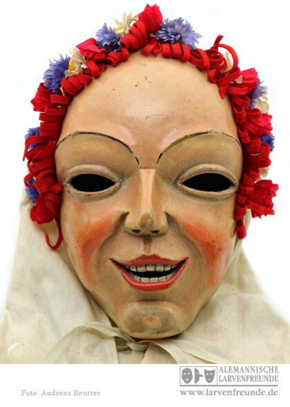 Saulgau Dorauszunft Blumennärrle Holzmaske