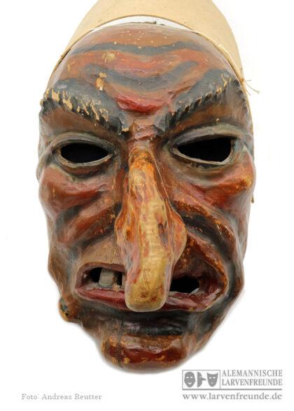 Saulgauer Hexe Hexenmaske Holzmaske Scheck