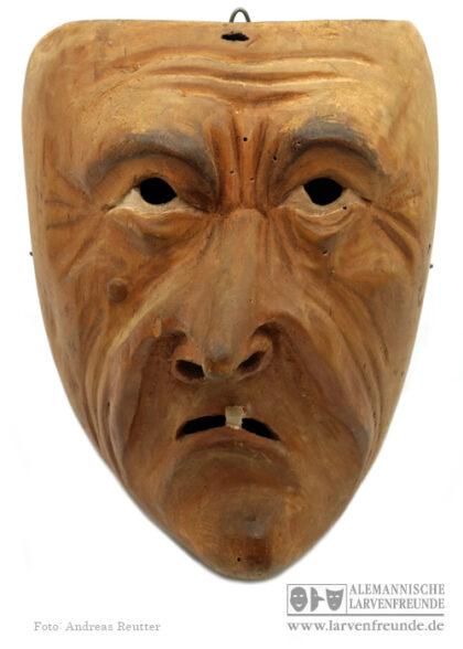 Holzmaske Kriens Charaktermaske Hertling Maskenmuseum