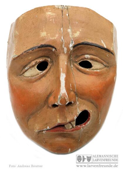 Plätzler Holzmaske Weingarten Fasnetsmuseum Maskenmuseum