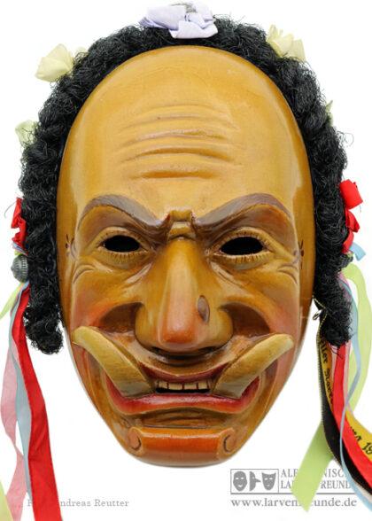 Holzlarve Federahannes Villinger Rottweil Maskenmuseum