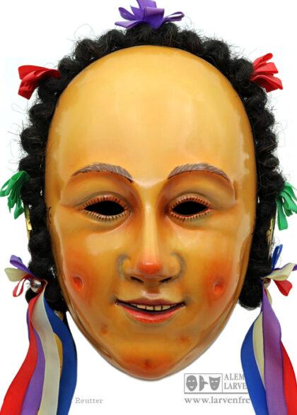 Rottweil Fransenkleidle Holzlarve Klaiber-Kasper Maskenmuseum
