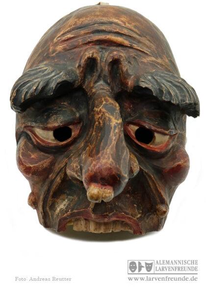 Wilder Mann Holzlarve Schleicherlaufen Maskenmuseum