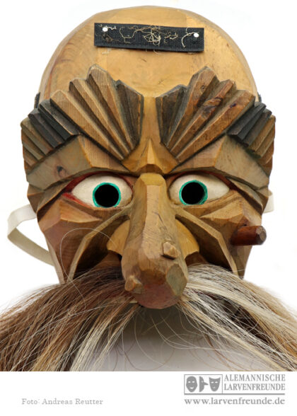 Holzlarve Telfs Schleicherlaufen Holzmaske