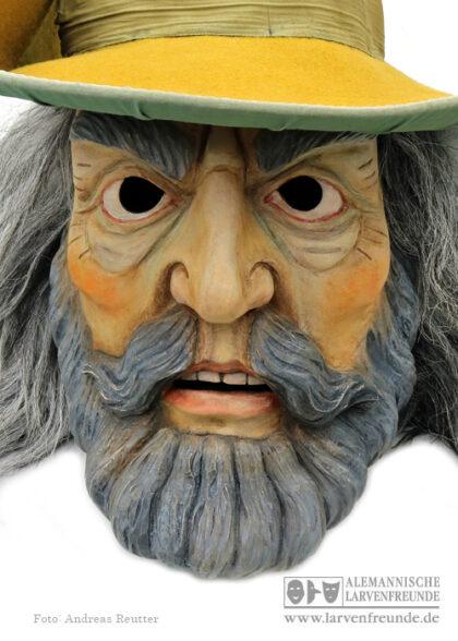 Holzlarve Tirol Männerlarve Maskenmuseum